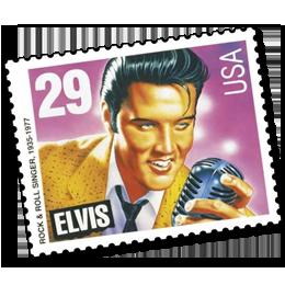 Postzegels      van het thema Elvis Presley  '