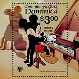 Postzegels      van het thema Disney  '