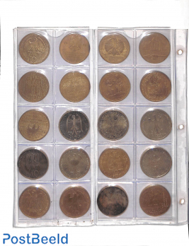 Collection of 20 silver 10DM coins