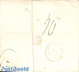 Folded envelope from Sneek to Gorcum