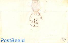 Hand made envelope send from Dordrecht to Amsterdam, with Dordrecht mark