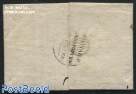 Folding letter from s-Gravenhage to Leuven, Militaire transporten te water
