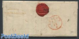 Folding letter to Leiden