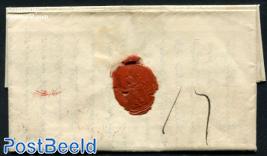 Folding letter from Culemborg to Haarlem via Utrecht