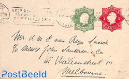 Envelope 1/2d and 1d,