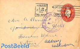Envelope 3d, to Victoria, Address unknown