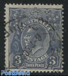 3d, Plate II, perf. 13.5:12.5, Stamp out of set