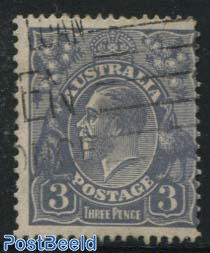3d, Plate I, Perf. 13.5:12.5, Stamp out of set