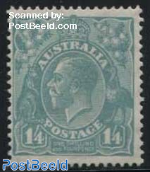 1/4Sh, WM C of A, Stamp out of set