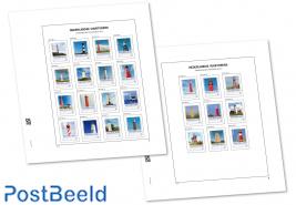 Luxe bladen Nederland Pers. Postzegels Vuurtorens 2014