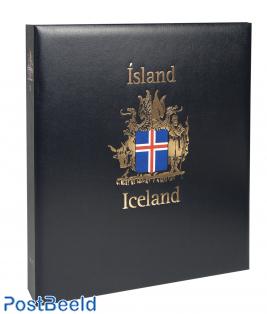 Luxe postzegelalbum IJsland I 1873-1989