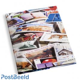 Leuchtturm Stamp Insteekboek 16 Zwarte Bladen (A4) - Motief
