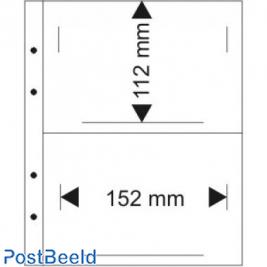 Lindner 1331 black (10x), 2 pockets 152 x 112 mm.