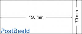 500 pergamijn zakjes 70x150mm