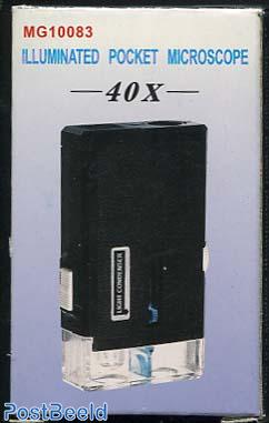Illuminated Pocket Microscope 40x