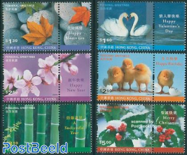 Greeting stamps 6v