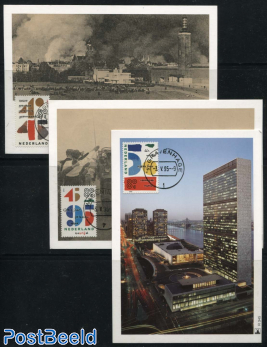World war ii, United Nations 3 maximum cards Mill set