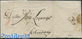 Folding letter from Amsterdam to Schiedam