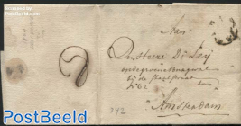 Letter from Delfshaven to Amsterdam