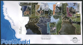 Beautiful Netherlands, Mixed s/s, FDC