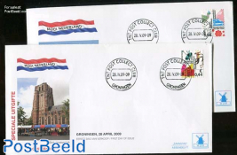 Beautiful Netherlands 2v FDC Mill set
