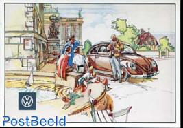 VW Beetle, near the fountain