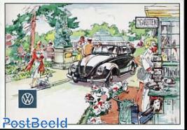 VW Beetle, near kiosk