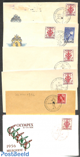 Lot with 6 Olympic covers