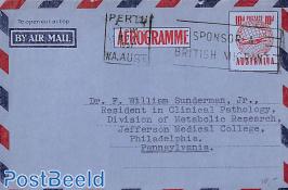 Aerogramme 10d to USA