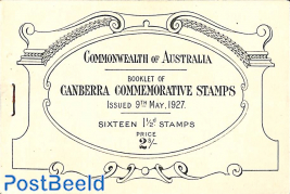 Canberra booklet