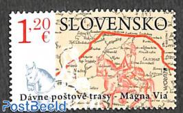 Europa, old postal roads 1v