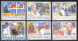 Pope's travels 6v