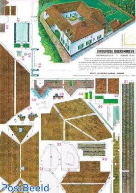 Cardboard model Limbur farm #A15