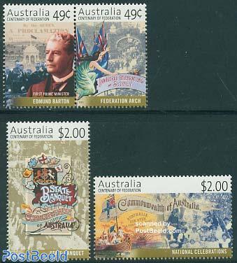 100 years Australian Commonwealth 4v (2v+[:])