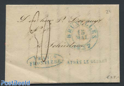 folding letter from Brussels to Schiedam