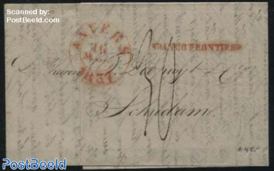 Letter from Anvers to Schiedam