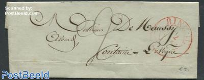 Folding letter from Belgium