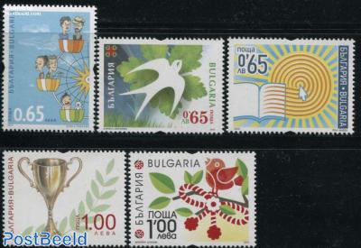 Definitives, Greeting Stamps 5v