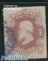 20R, brown-lilac, used, with small brown spots