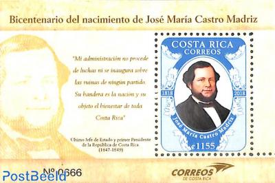 Jose Maria Castro Madriz s/s