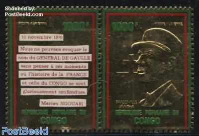 Charles de Gaulle 2v gold [:]
