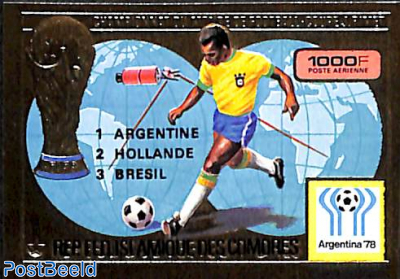 World Football winners 1v, imperforated