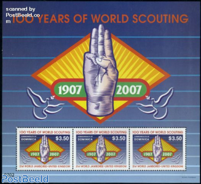 Scouting centenary m/s (with 3 stamps)