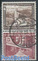 3Pf+12Pf, tete-beche pair from booklet