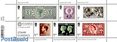 Stamp classics, Stampex overprint s/s
