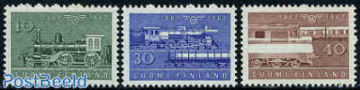 Railways centenary 3v