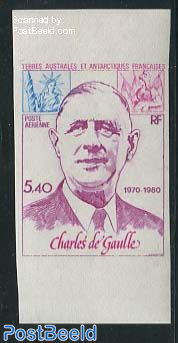 Charles de Gaulle 1v, Colour proof