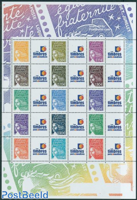 Marianne personal stamps 15v m/s