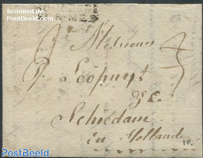 Folding letter to Schiedam
