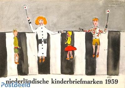 Original Dutch promotional folder from 1959, Child welfare, German language